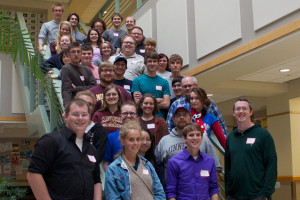 Students and volunteers at Open Source Comes to Campus: Morris.